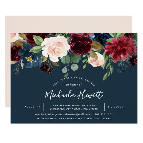 Radiant Bloom | Watercolor Floral Bridal Shower Invitation