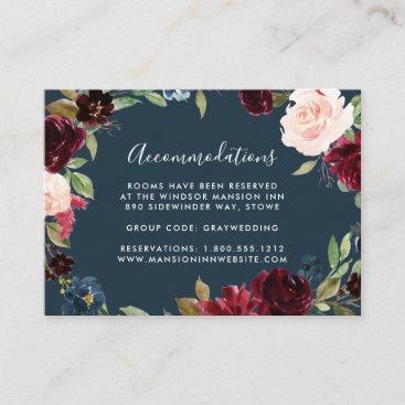 Radiant Bloom Wedding Hotel Accommodation Cards