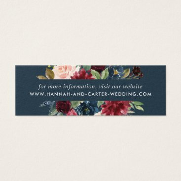 Radiant Bloom Wedding Website Cards