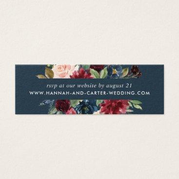Radiant Bloom Wedding Website RSVP Cards