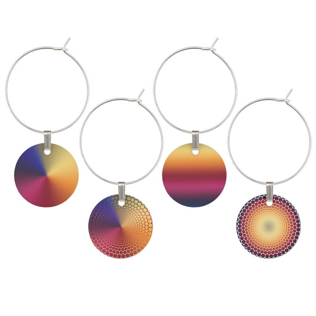 Radiant Gradient Wine Charm