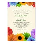 Rainbow Bouquet Wedding Invitation