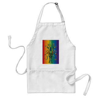 Rainbow Floral Abstract Aprons
