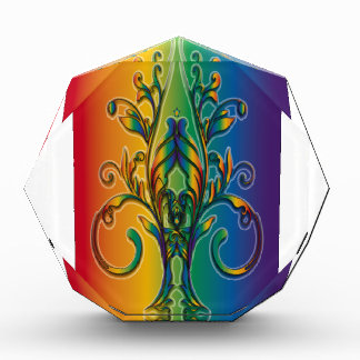 Rainbow Floral Abstract Awards