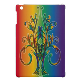 Rainbow Floral Abstract Case For The iPad Mini