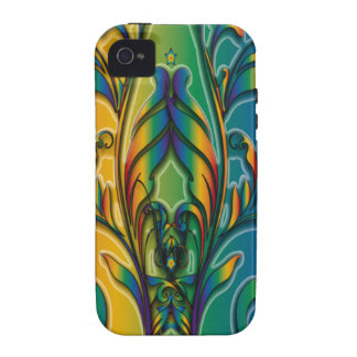 Rainbow Floral Abstract iPhone 4/4S Case