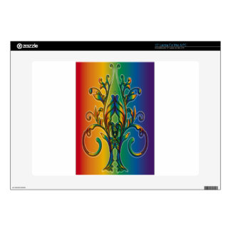 Rainbow Floral Abstract Skins For Laptops