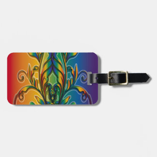 Rainbow Floral Abstract Tag For Bags
