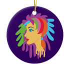 Rainbow Hair ornament