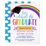 Rainbow Let's Celebrate the Graduate Invitation