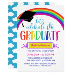 Rainbow Let's Celebrate the Graduate Invitation