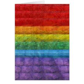 Rainbow Mosaic Gay Pride Flag Card