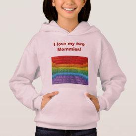 Rainbow Mosaic Gay Pride Flag Hoodie