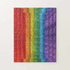 Rainbow Mosaic Gay Pride Flag Jigsaw Puzzle