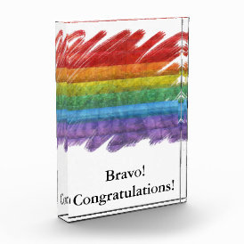 Rainbow Mosaic Gay Pride Flag (Paintbrush) Award