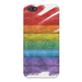 Rainbow Mosaic Gay Pride Flag (Paintbrush) iPhone SE/5/5s Cover