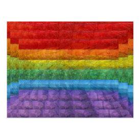 Rainbow Mosaic Gay Pride Flag Postcard