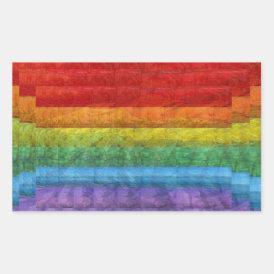 Rainbow Mosaic Gay Pride Flag Rectangular Sticker