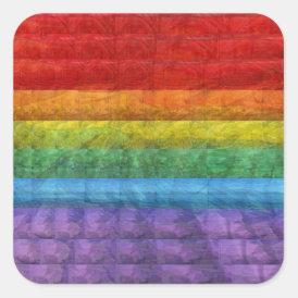 Rainbow Mosaic Gay Pride Flag Square Sticker