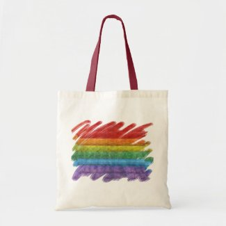 Rainbow Mosaic Gay Pride Flag Tote Bag