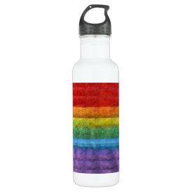 Rainbow Mosaic Gay Pride Flag Water Bottle