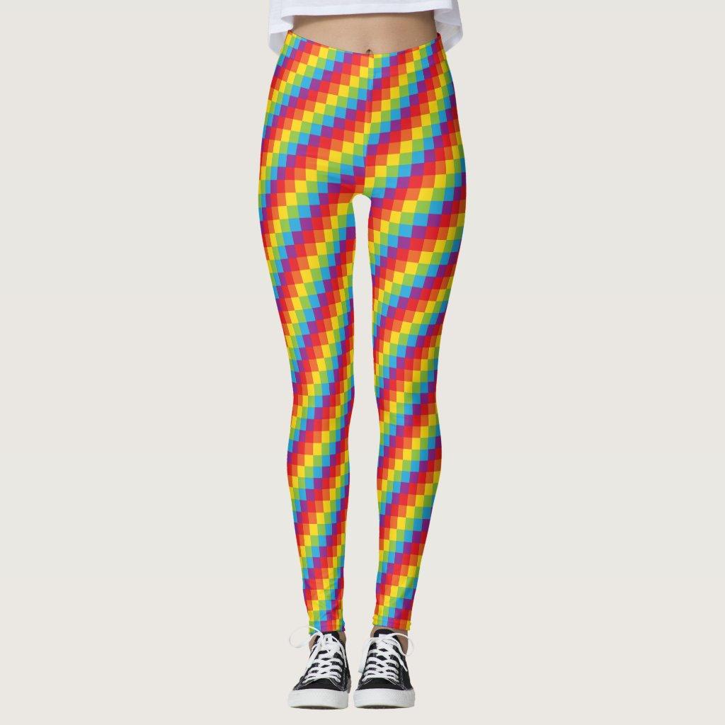 Rainbow Pixels LGBT Pride Gaymer Leggings