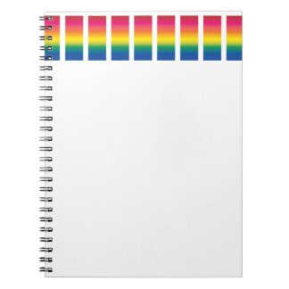 Rainbow Spectrum Blocks Spiral Notebooks