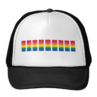 Rainbow Spectrum Blocks Trucker Hats