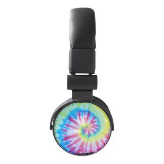 Rainbow TieDye Swirl Sprial Headphones