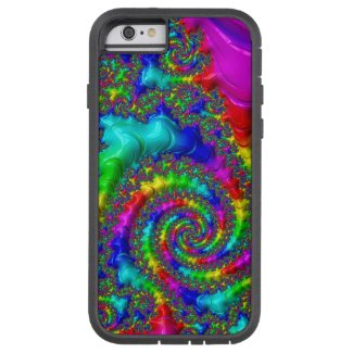 Rainbow Trippy Glossy Fractal iPhone6 Tough Case