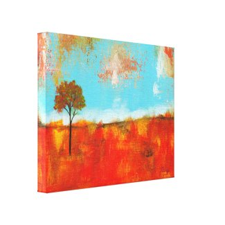 Rapture Abstract Landscape Tree Art Painting Gallery Wrapped Canvas