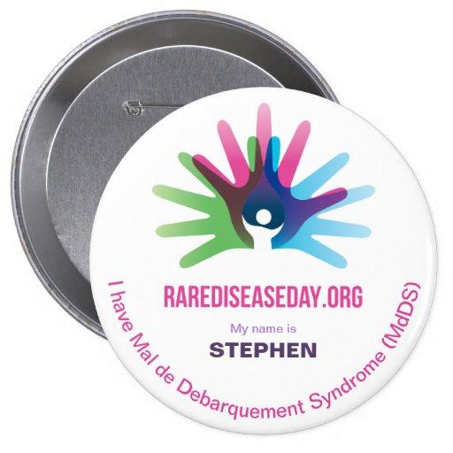 Rare Disease Day, Personalize All, Round Button