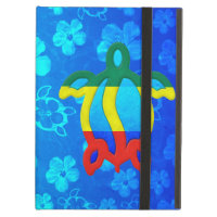 Rasta Honu Blue Hibiscus iPad Covers