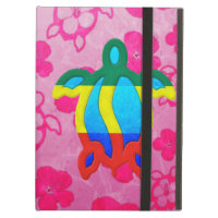 Rasta Honu Pink Hibiscus iPad Cover