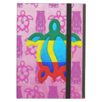 Rasta Honu Pink Tiki iPad Folio Cases