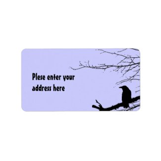 Raven on the Tree Custom Address Label