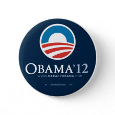 Re-Elect President Barack Obama 2012 Pinback Button
