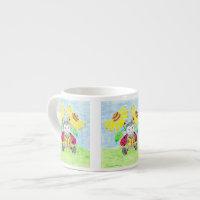 Reading ladybug espresso mug