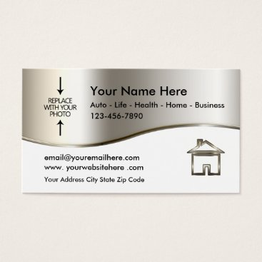 Real Estate Agent Photo Template Business Card