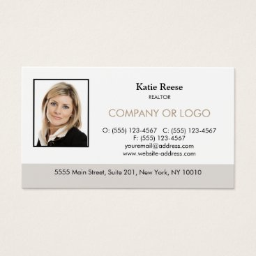 Real Estate Professional Add Photo and Logo Business Card