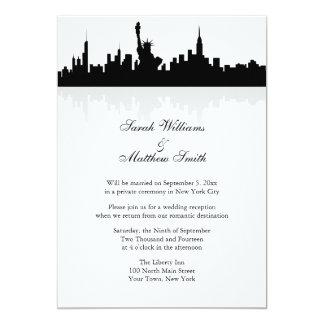 Reception Only New York Skyline Wedding Invitation