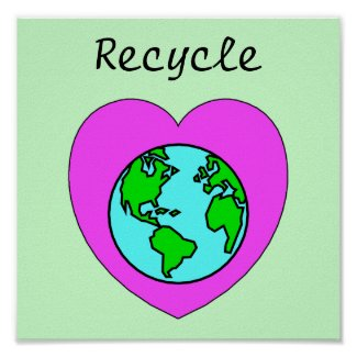 Recycle Environmental Eco-Friendly Poster print