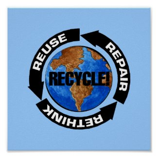 Recycle Poster print