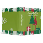 Red and Green Holiday Photographs binder