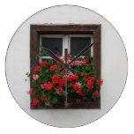 Red And Pink Pelargonium Clocks