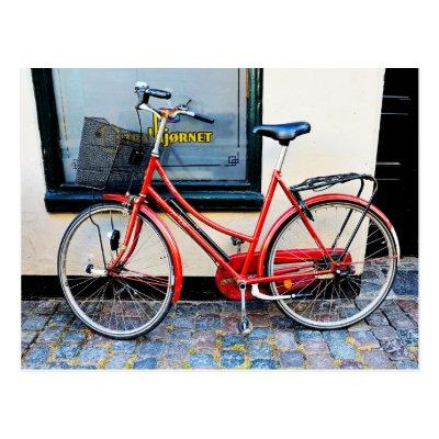 Red Bicycle, Copenhagen, Denmark Postcards