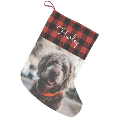 Red Flannel Small Christmas Stocking