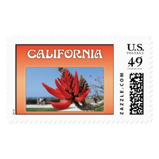 Red Flower California Stamps