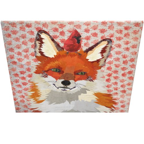 RED FOX & CARDINAL ROSE Canvas