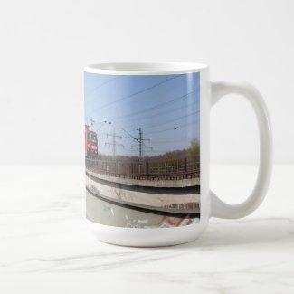 Red German Train Coffee Mugs
